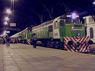 Ferrocentral - A train in Tucumán station (2006).
