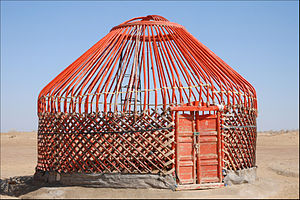 Karakalpaks - A frame of traditional Karakalpak yurt or qara u'y.