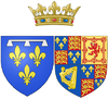 Arms of Henriette of England as Duchess of Orléans.png