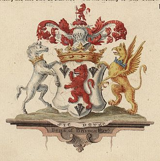 Francis Egerton, 3rd Duke of Bridgewater - Image: Arms of the Duke of Bridgewater 02866