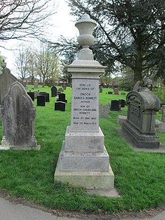 Arnold Bennett - Memorial above his ashes in Burslem Cemetery