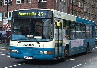 Wright Renown - Image: Arriva bus 4509 Volvo B10BLE Wrightbus Renown V509 DFT in Newcastle 9 May 2009 pic 1