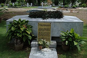 Artemio Ricarte - General Ricarte's tomb at the Libingan ng mga Bayani