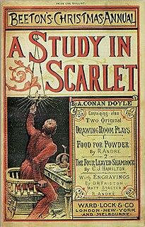 <i>A Study in Scarlet</i> first Sherlock Holmes novel by Sir Arthur Conan Doyle