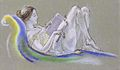 Arthur B. Davies - Reclining Woman (Drawing), 1911.jpg