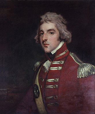 Arthur Wellesley, 1st Duke of Wellington - Wellesley as Lieutenant Colonel, aged c. 26, in the 33rd Regiment. Portrait by John Hoppner
