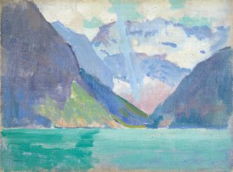 Arthur Wesley Dow - Arthur Wesley Dow: View of Lake Louise, Alberta, Canada, 1919