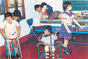 Seva Bharati - Children at a center for differently abled in Bangalore