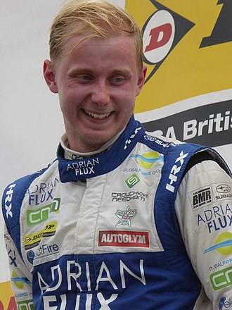 2017 British Touring Car Championship - Ashley Sutton, after winning the second race at the Knockhill round. Despite failing to score a point in the opening meeting of the season at Brands Hatch, Sutton won six races thereafter to win the championship, the youngest champion since John Fitzpatrick in 1966.