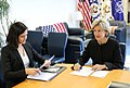 Assistant Secretary of State for Public Affairs Michelle Giuda and U.S. Ambassador to NATO Kay Bailey Hutchinson in Brussels.jpg