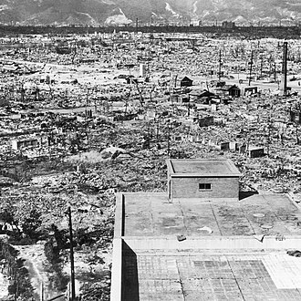 Gun-type fission weapon - Weapon effects - Hiroshima in ruins after the Little Boy atomic bomb exploded