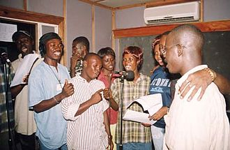 Voice acting - Voice actors in the Sierra Leonean radio soap opera Atunda Ayenda