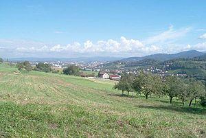 Au (Schwarzwald) - Image: Au breisgau blick nach frei