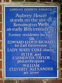 Aubrey House stands on the site of Kensington Wells an early 18th century spa.jpg