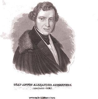 Count Anton Alexander von Auersperg Austrian poet and politician