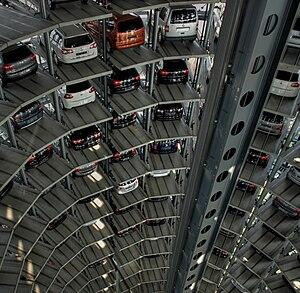 Autostadt - Inside the glass car silos
