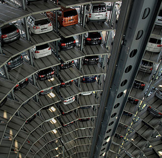 Autostadt - Inside the glass car silos