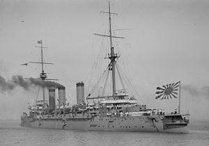 Japanese cruiser Azuma - Azuma at anchor in Australia, 1910s
