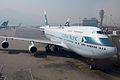 B-HUB - 747-467 - Cathay Pacific - HKG (12654395644).jpg