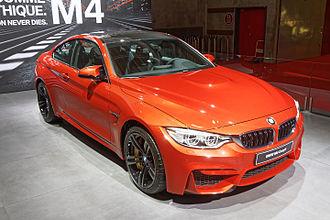 BMW M4 - Image: BMW M4 Coupé Mondial de l'Automobile de Paris 2014 003
