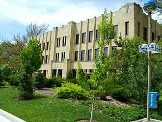 BYU College of Fine Arts and Communications - The George H. Brimhall Building, home of the Department of Communications, is located on the south end of the Provo, Utah, Campus