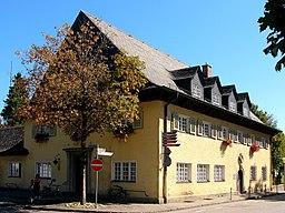 Bahnhofplatz in Prien am Chiemsee