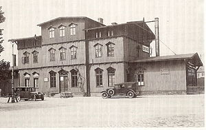 Elsterwerda railway station - The station building in 1923