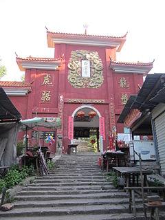 Baiyun Temple (Ningxiang) building in Hunan, China