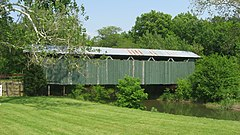 Ballard Road Covered Bridge, western side.jpg