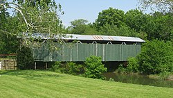 Ballard Road Covered Bridge, northwest of Jamestown