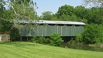 New Jasper Township, Greene County, Ohio - Ballard Road Covered Bridge, northwest of Jamestown