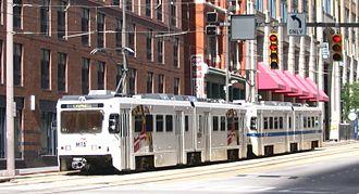 Howard Street (Baltimore) - The light rail operating along Howard Street