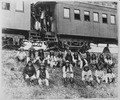 Band of Apache Indian prisoners at rest stop beside Southern Pacific Railway, near Nueces River, Tex., September 10, 188 - NARA - 523549.tif