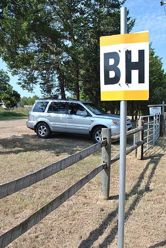 Bankhead Highway - BH signpost, Texas