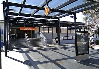 Bankstown railway station - Southern entrance in September 2018