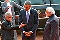 Barack Obama being welcomed by the President, Shri Pranab Mukherjee and the Prime Minister, Shri Narendra Modi at Ceremonial Reception, at forecourt of Rashtrapati Bhavan, in New Delhi on January 25, 2015 (1).jpg