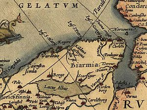 "Solovki prison camp - A 1570 map by Abraham Ortelius shows the location of ""Salofki""."