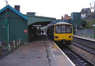 Bargoed railway station - Image: Bargoed Railway Station