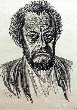 Ernst Barlach, autoportret, 1928