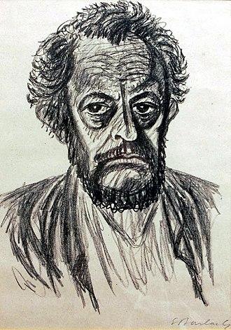 Ernst Barlach - Ernst Barlach: Self-portrait, 1928