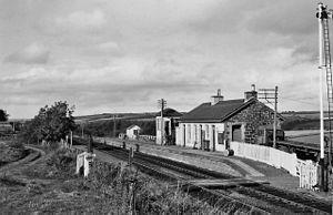 Barrhill railway station - Barrhill station in 1974