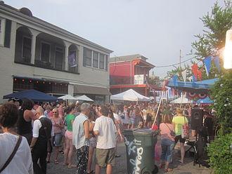 Faubourg St. John - Bastille Day celebrations on Ponce de Leon Street, 2013.