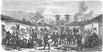 Rafael Maroto - The Battle of Rancagua in which Maroto participated in the taking of the plaza.