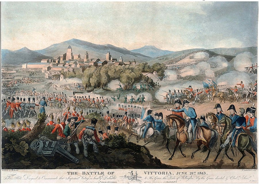 Battle of Vitoria by Heath & Sutherland, A.S.K. Brown collection Batalla de Vitoria Battle of Vitoria, by Heath & Sutherland, A.S.K. Brown collection.jpg