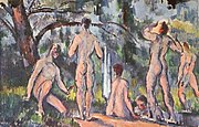 Bathers, by Paul Cézanne, Pushkin Museum of Fine Arts, Yorck.jpg