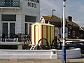 Bathing machine outside the Langham Hotel - geograph.org.uk - 976731.jpg