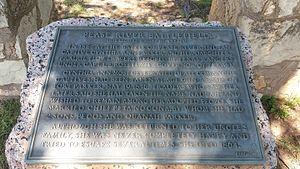 Peta Nocona - Texas historical marker in Crowell, Texas
