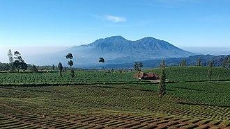 Batu, East Java - Image: Batu city and Mount Panderman Kawi Butak from Brakseng 2019 01 12