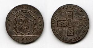 Swiss franc - Bernese Konkordatsbatzen of 1826