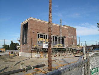 Central Link - The headhouse of Beacon Hill station, seen under construction in May 2009